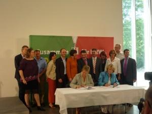 Koalitionsvertrag unterschrieben