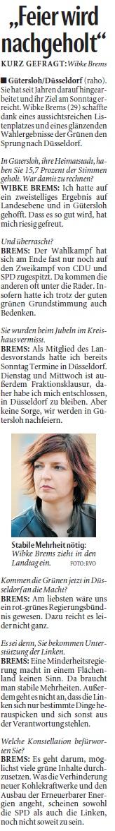 Neue Westfälische 11.5.2010