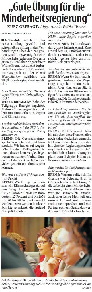 Neue Westfälische 9.7.2010