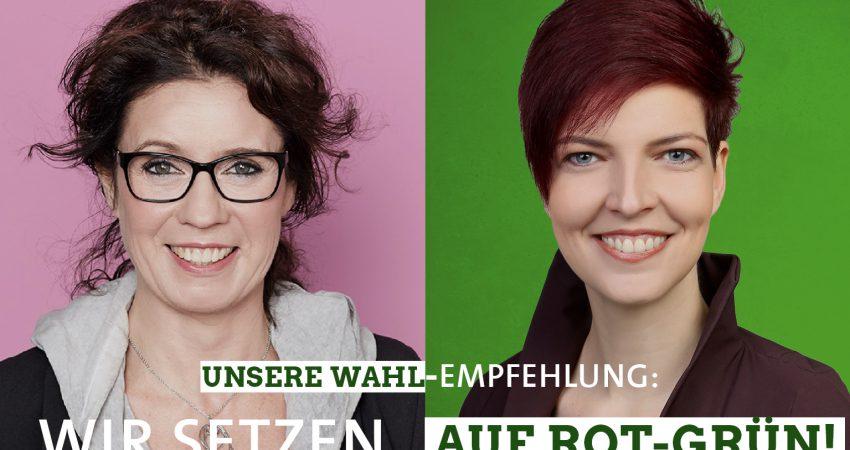 Susanne Kohlmeyer und Wibke Brems setzen auf rot-grün